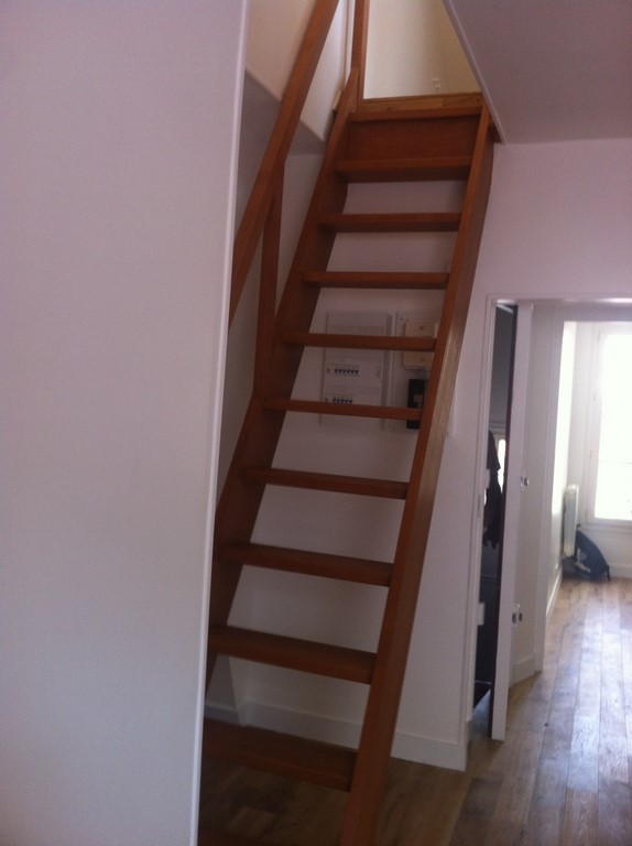 photo escalier combles apres travaux rue juge paris 15